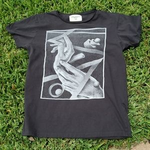 T-Bar X Cotton On short sleeve black graphic Tee